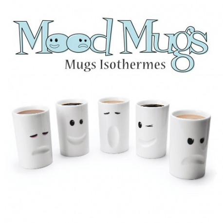 Lot de 5 mugs avec chacun une humeur différente