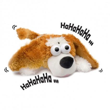 Une chien mort de rire