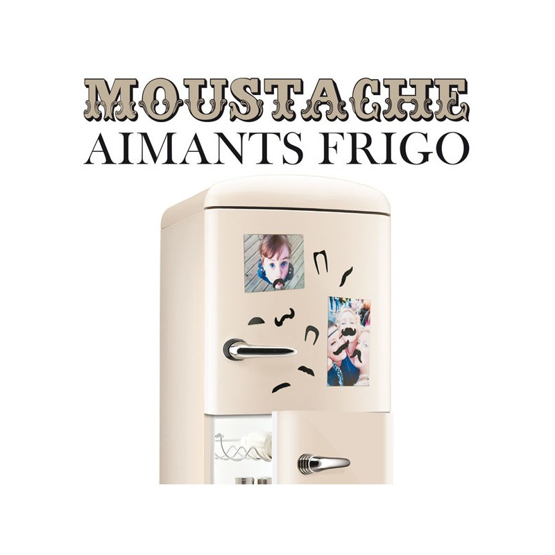 aimants pour frigo moustaches cadeau design sur logeekdesign