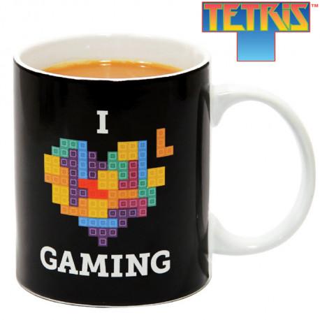 Cadeau officiel Tetris, ce mug geek est idéal pour tous les amateurs de Tetris, ce célèbre jeu vidéo des années 80... Mettez-vous de bonne humeur de bon matin !