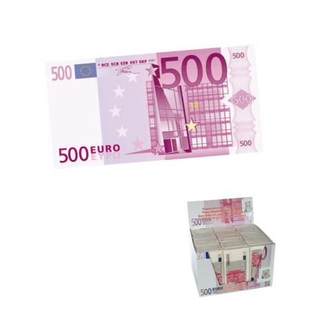Faites-vous remarquer avec ces serviettes en papier à l'allure de billets de 500 €... Elles sont un cadeau idéal pour vos soirées à thèmes ou repas décalés !