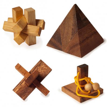 Mettez à rude épreuve vos méninges avec l'un de ces casse-têtes en bois ! Développez votre esprit de logique et de raisonnement avec ce jeu de réflexion ludique ! Un cadeau pour petits et grands…
