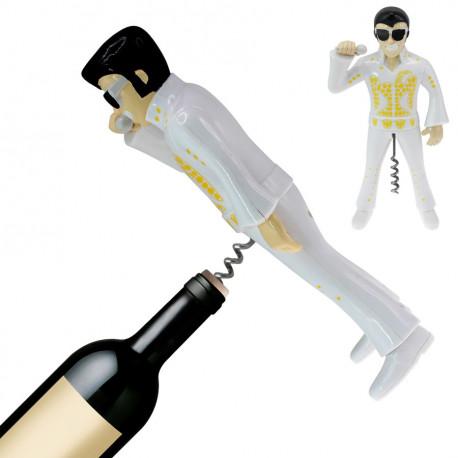 Ouvrez toutes vos bouteilles avec ce tire-bouchon insolite, à l'image du King en tenue de scène… Il est l'accessoire idéal pour vos soirées entre amis ou en famille !