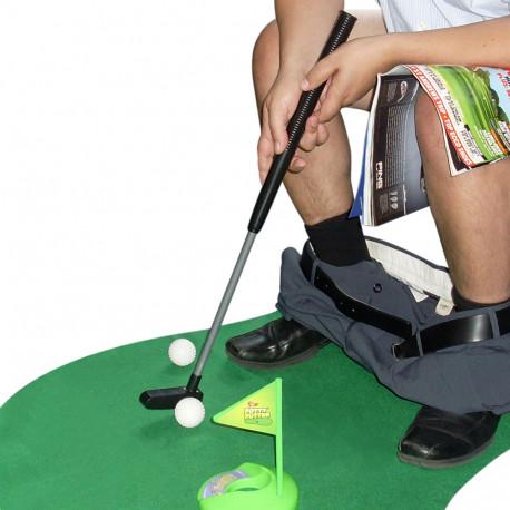 Un jeu de mini golf pour toilettes