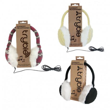 Ce casque audio tricot vous permet d'allier musique, mode et confort en vous réchauffant les oreilles
