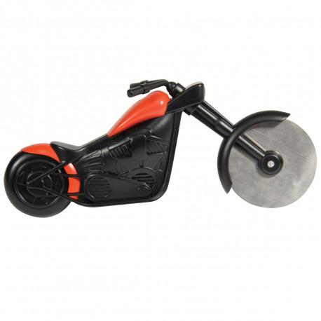 Coupez votre pizza ou autres tartes avec ce gadget insolite en forme d'une superbe moto ! Sa roue en acier inoxydable vous permet une découpe parfaite : un accessoire de cuisine à adopter de toute urgence !