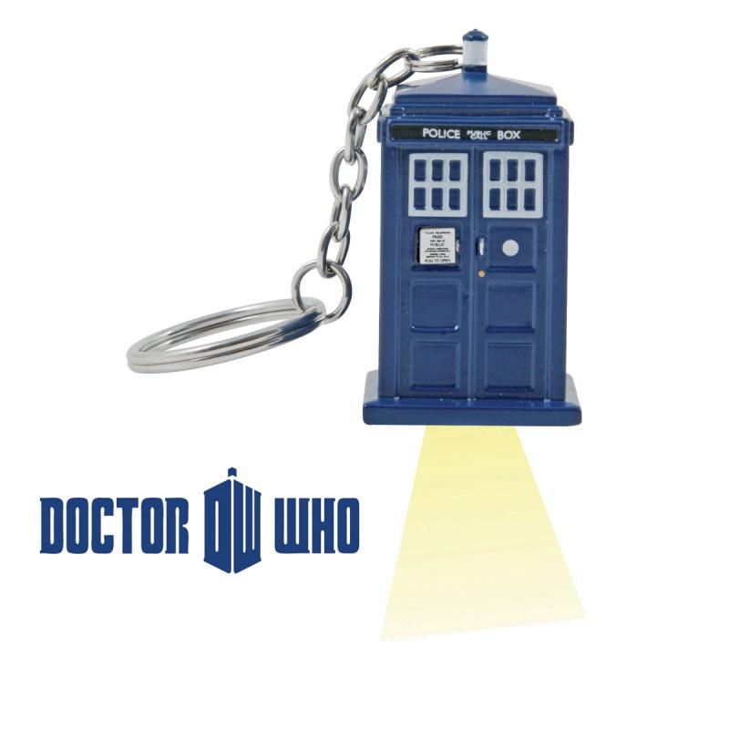 Porte-Clés Lumineux Tardis Dr Who, Gadget Geek sur Logeekdesign