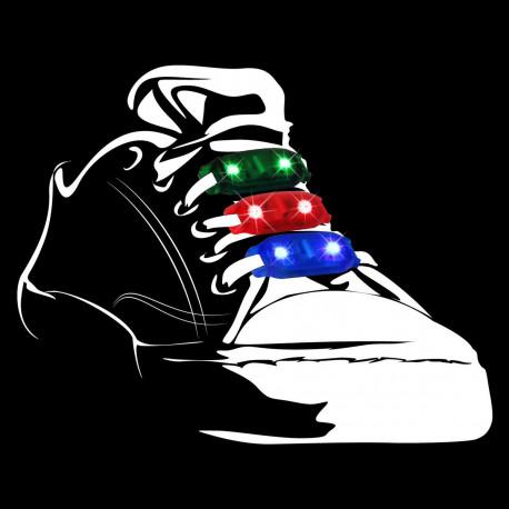 Ce pack de deux lumières pour lacets met en avant vos chaussures à lacets... Dès que vous bougerez, les Blink Stepz vont s'illuminer au rythme de vos mouvements