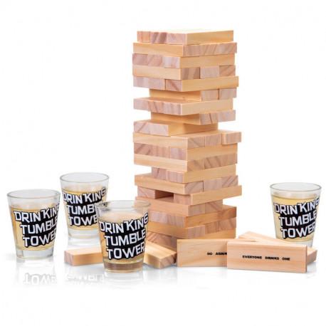Le jeu à boire « tour infernale » est un jeu fun et original qui vous déclenchera sûrement beaucoup de fous rires lors de soirées entre amis ! Originalité 100 % garantie et fêtes inoubliables en perspective !