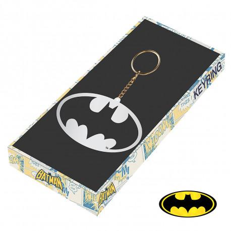 Ce porte-clés Batman arbore le logo de l'homme chauve-souris pour ajouter une touche geek à votre trousseau de clés ! En métal, ce porte-clés geek est un indispensable pour les amateurs du super-héros !