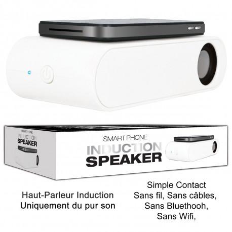 Transmettez votre musique par simple contact avec cet haut-parleur pour smartphone ! Alliant technologie et design épuré tendance, ce gadget musical ne vous quittera plus... Une enceinte sans fil qui fera l'unanimité !