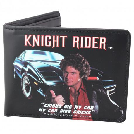 Ce portefeuille à l'anglaise met à l'honneur la passionnante série américaine des années 80... Michael Knight et Kitt, la mythique Pontiac de la série, vous accompagnent où bon vous semble ! Un accessoire so geek !