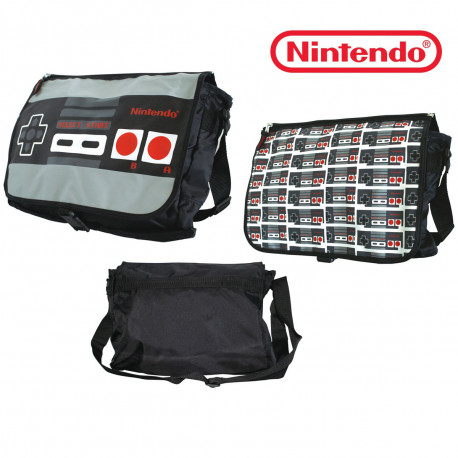 Nostalgeek ? Voilà pour vous un sac à bandoulière Nintendo totalement insolite avec son rabat réversible ! A l'effigie de la manette Nes, cette besace est à offrir aux vrais fans du rétro-gaming !