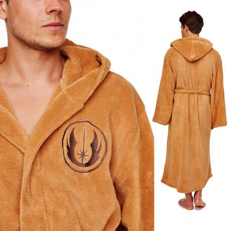 Donnez-vous l'allure d'un Jedi avec ce long et ample peignoir Star Wars mettant à l'honneur le logo de l'Ordre des Jedi