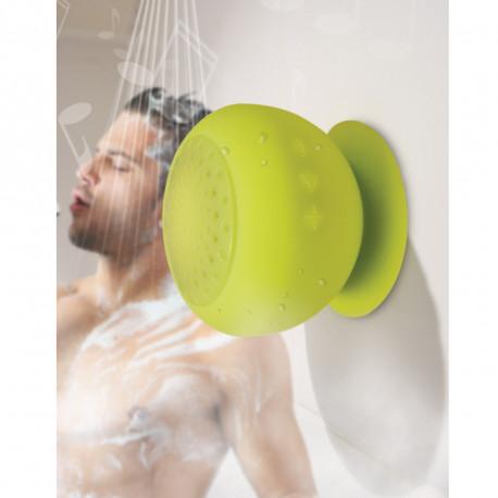 Un haut-parleur en silicone pour écouter la musique sous la douche... et pas uniquement ! Répondez à vos appels sous la douche avec ce gadget de salle de bain bluetooth so funky !