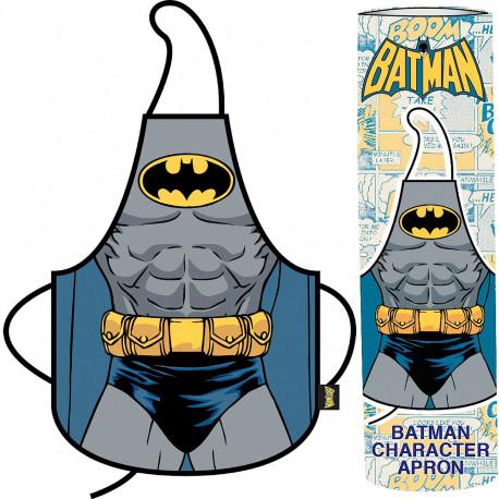 Retrouvez votre identité secrète de super-héros derrière les fourneaux à l'aide de ce tablier Batman, livré dans son packaging/tube ! Jouez-la à la Bruce Wayne et cuisinez des mets super-héroïques ! Geekement original !