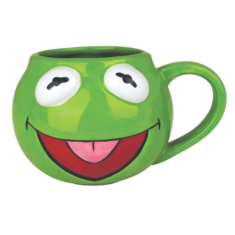 Prenez une bouffée d'air nostalgique avec ces maxi mugs insolites aux couleurs du Muppet Show ! Le modèle Kermit est là pour satisfaire les amateurs des marionnettes télévisées... Et c'est parti pour le show !