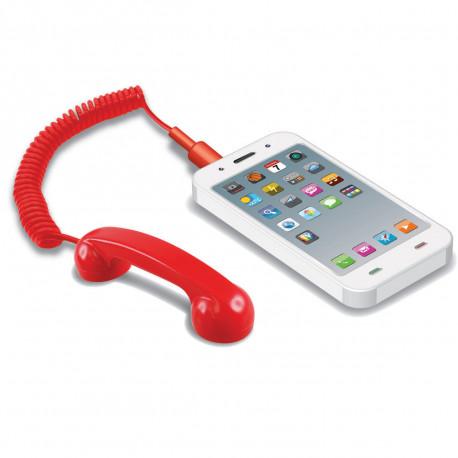 Cet accessoire geek prend inspiration dans le style rétro des anciens combinés de téléphone... Adapté aux smartphones et autres tablettes, il va vous faciliter l'accessibilité aux fonctionnalités de votre téléphone pendant l'appel, tout en réduisant les émissions d'ondes !
