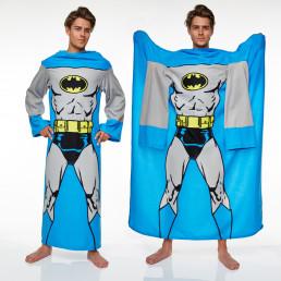 Couverture Polaire à Manches Batman