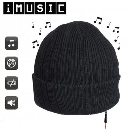 un bonnet intégrant deux haut-parleurs