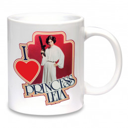 Mug Star Wars I Love Princesse Leia