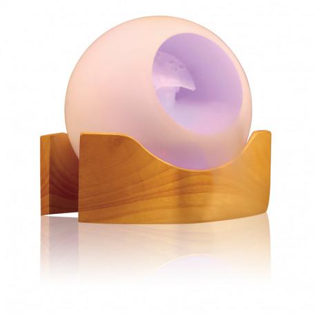 Offrez de l'exceptionnel à un amateur de design et de zen-attitude avec cet élégant brumisateur d'arômes multicolore ! Sa bulle lumineuse en verre juchée sur un socle en bois sera du plus bel effet…