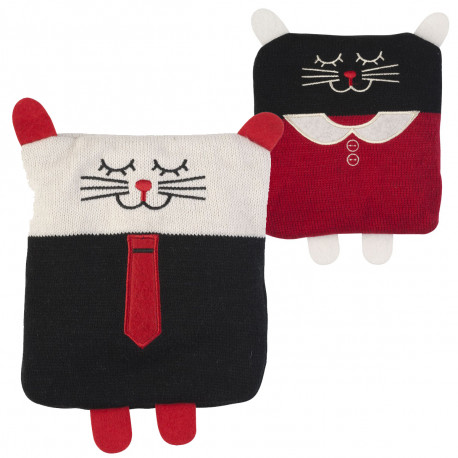 Cette bouillotte façon tricot prend la forme du mignon petit animal, modèle fille ou garçon, selon votre choix
