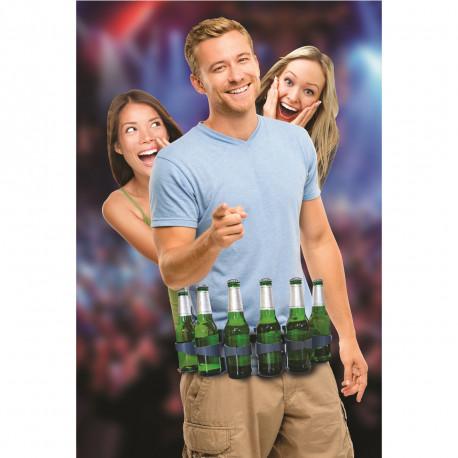 Buvez plus vite que votre ombre avec ce gadget festif insolite... Vous pourrez ainsi garder des provisions liquides autour de votre taille avec cette ceinture à bières très pratique... Ne soyez jamais à cours de boissons !