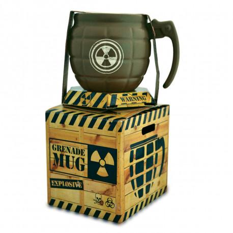 Ce mug en céramique, à l'allure d'une vraie grenade militaire