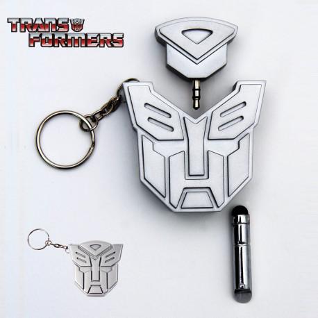 Porte-clés à l'effigie de transformers doté d'un stylet et d'une double prise jack !