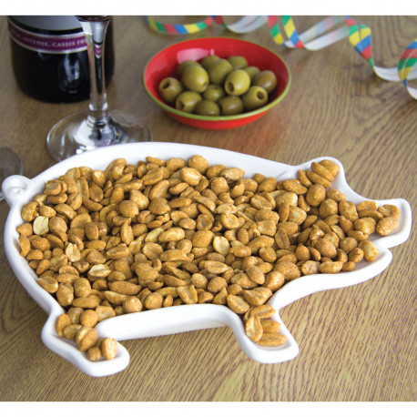 Si vous êtes amateurs de gâteaux apéritifs ou de bonbons acidulés, ce cochon en céramique est fait pour vous ! Vous pourrez ainsi ajouter un peu d'humour à tous vos apéros entre copains ou en famille…