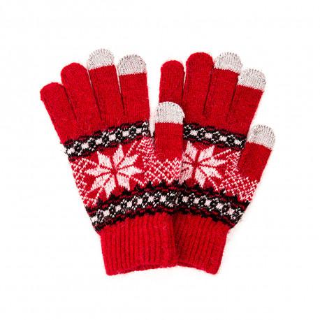 Utilisez votre téléphone en gardant vos mains bien au chaud avec ces gants tactiles flocons de neige, en rouge ou noir