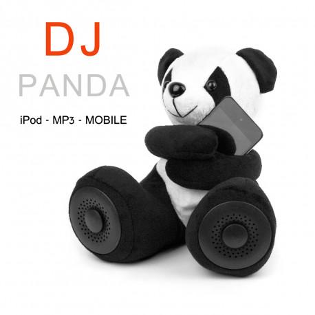 Découvrez cette jolie peluche panda qui cache deux haut-parleurs vous permettant d'écouter et de partager votre musique préférée… Un peu de tendresse dans vos démos musicales ne fera pas de mal !
