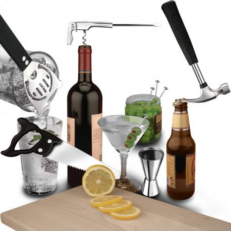 Caisse à outils pour faire des cocktails pour l'apéritif