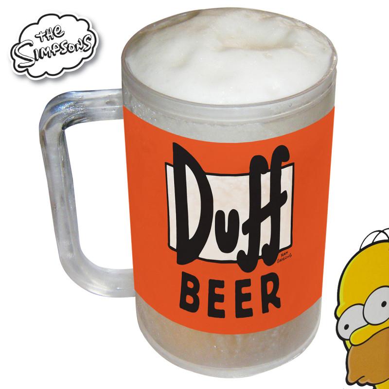 Trinquez frais avec Homer à l'aide de cette chope réfrigérée Simpsons so geek !