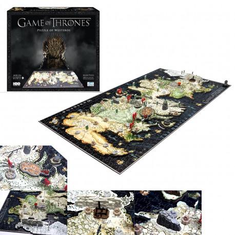 puzzle Game of Thrones Westeros en quatre dimensions