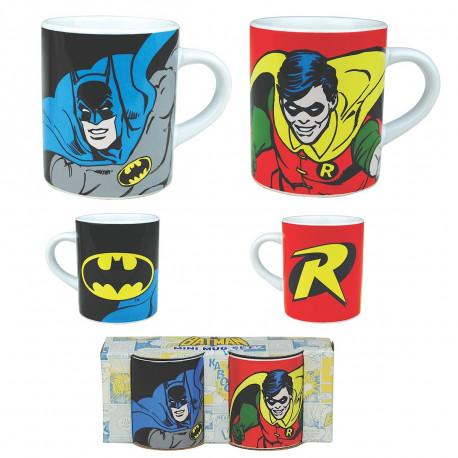 Inconditionnel des comics Batman, ces deux mini mugs so geek mettant Batman et Robin à l'honneur sont faits pour vous ! Buvez votre café en duo avec chic et geek-attitude à l'aide de ces tasses à expresso Batman…