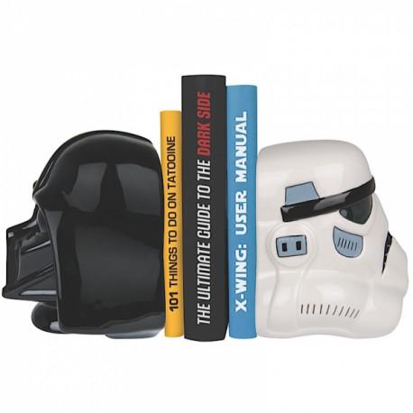 Les méchants de la saga Star Wars vont garder efficacement votre collection de livres avec ces serre-livres à l'effigie de Dark Vador et Stormtrooper ! En céramique, cet objet déco geek est celui qu'il vous faut…