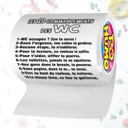 Papier Toilette Les 10 Commandements des WC