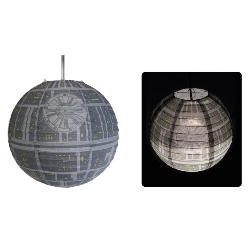 Suspension boule star wars en forme d 39 etoile de la mort - Suspension etoile papier ...
