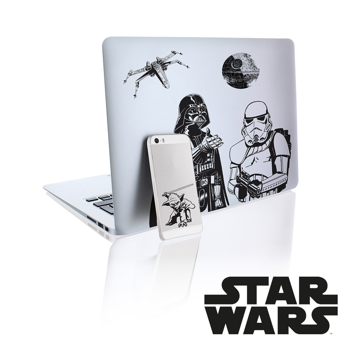 Autocollants star wars stickers ultra geek sur logeekdesign for Autocollant mural star wars