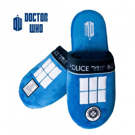 Une paire de chaussons Doctor Who