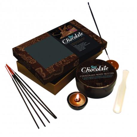 Un coffret de massage au chocolat