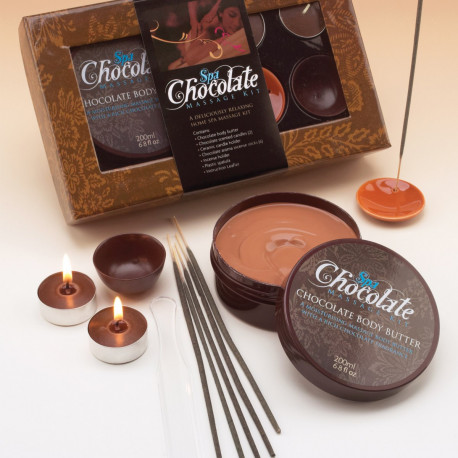 Ce coffret de massage chocolat aux multiples accessoires est réservé à tous les gourmands qui ont besoin de se détendre