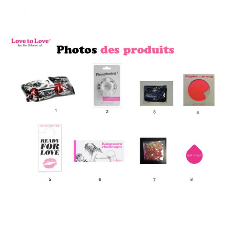 Photo des produits de la pochette sexy surprise