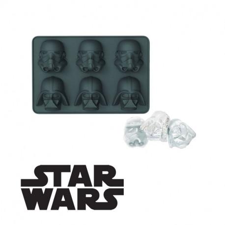 Créez 6 glaçons du côté obscur de la Force avec ce moule à glaçons Star Wars à l'effigie des casques de Dark Vador et des Stormtroopers