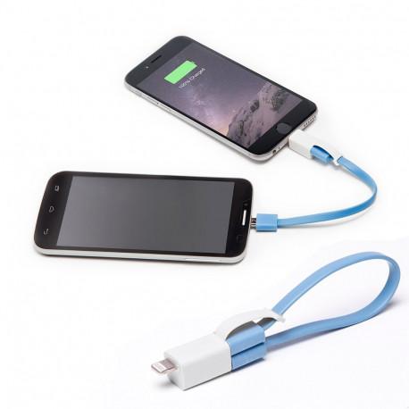 Avec ce câble transfert d'énergie, utilisez le smartphone de vos proches pour recharger le vôtre
