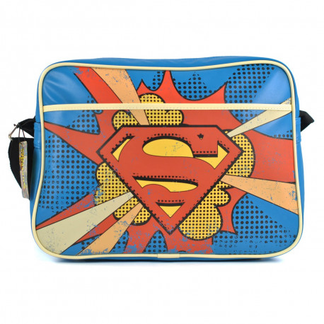 es fans du comics Superman tomberont à coup sûr sous le charme de ce sac à bandoulière Superman au look rétro et geek