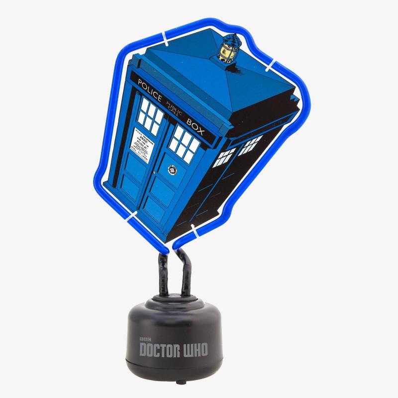 lampe geek doctor who avec n on bleu tardis sur logeekdesign. Black Bedroom Furniture Sets. Home Design Ideas