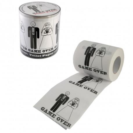Ce véritable papier de toilette mariage « Game Over » saura agrémenter les toilettes de manière humoristique
